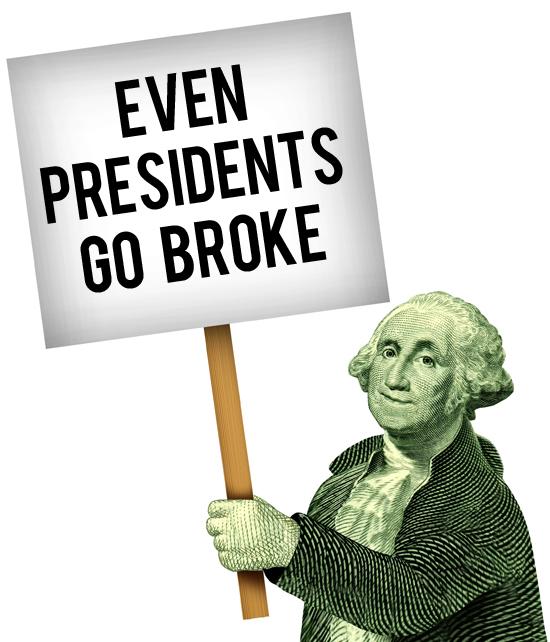 even presidents go broke