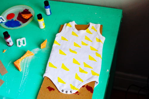 Baby Loves To Paint Onesie