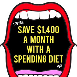 how to save 1,400 a month with a spending diet