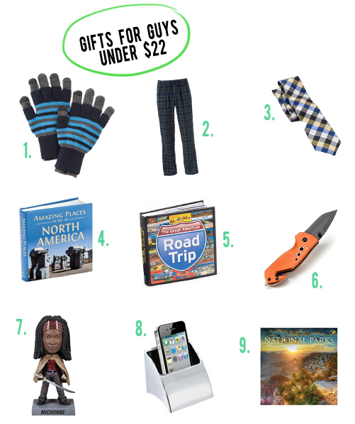 gifts for guys under 22 dollars andthenwesaved.com