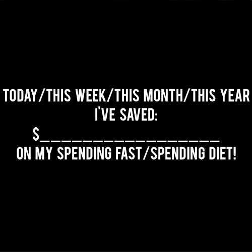 spending fast spending diet total savings andthenwesaved.com