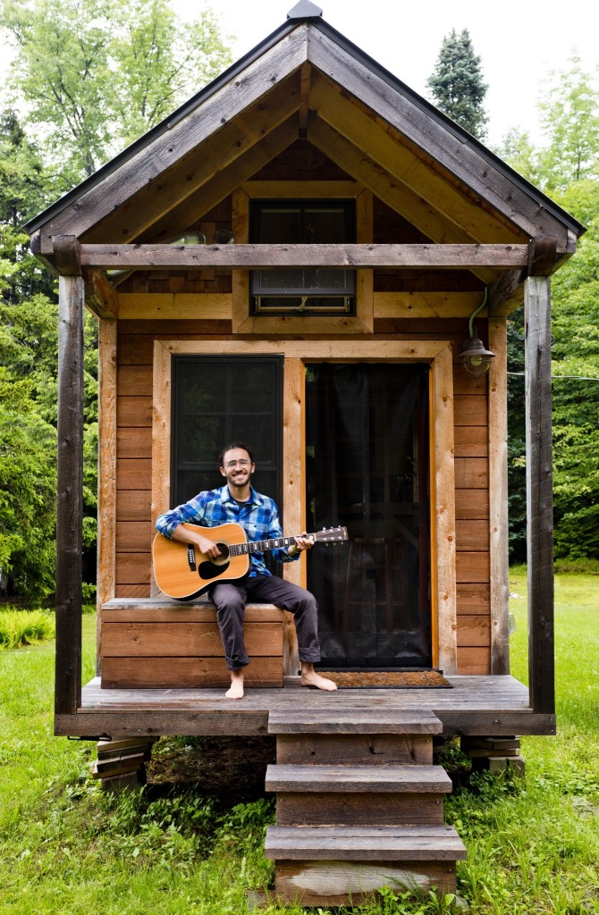 Living tiny ethan 39 s tiny vermont abode home tour and for Get a house built for cheap