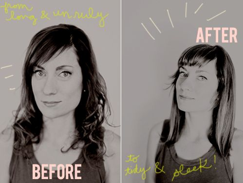 how to make your bangs thicker