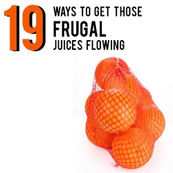 19 ways to get those frugal juices flowing | AndThenWeSaved.com