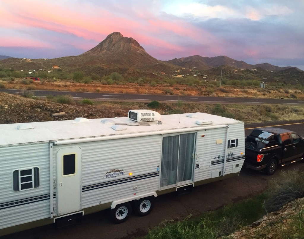 Living tiny andrea and brady 39 s sunny san diego rv and for Minimalist living in an rv