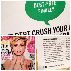 May 2016 Cosmopolitan Magazine Spender's Guide to Debt-Free Living Anna Newell Jones www.AndThenWeSaved.com