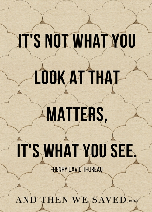 It's what you see | Andthenwesaved.com