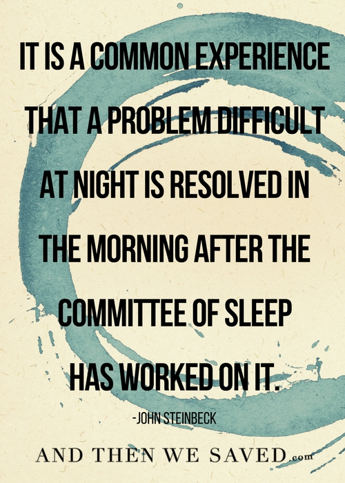 The Committee of sleep | Andthenwesaved.com