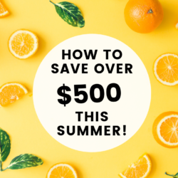 save money in summer