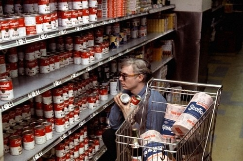 andy warhol canned soups grocery store