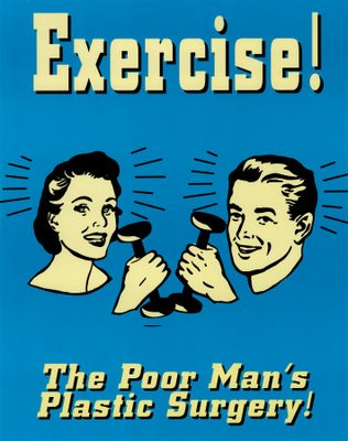 vintage exercise poster